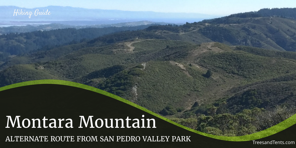 Hiking Montara Mountain from San Pedro Valley Park is a scenic alternative from the busy trailhead on Highway One. Hikers who make it to the top are rewarded with 360 degree views.