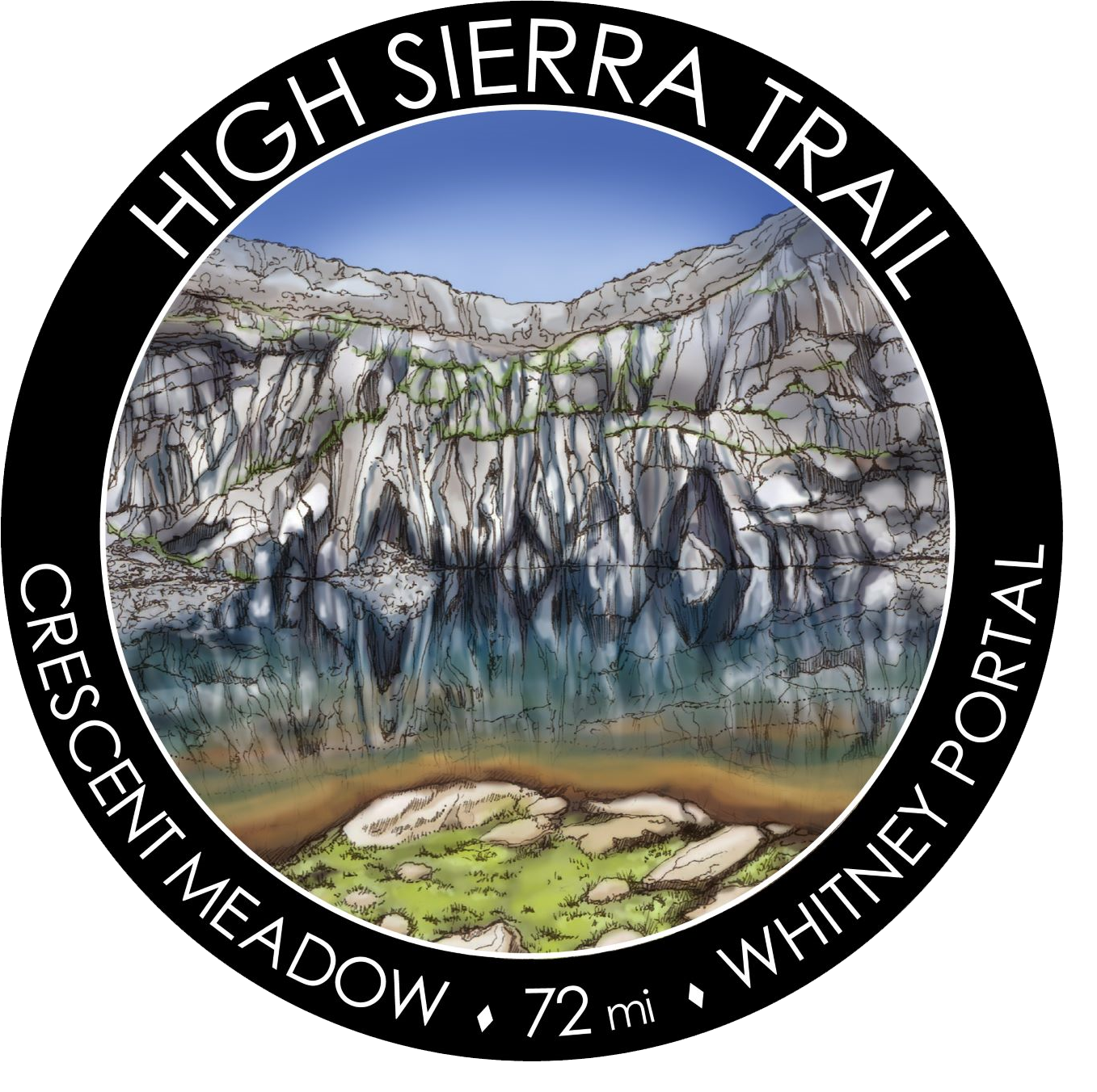 High Sierra Trail Sticker