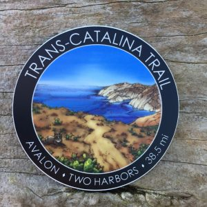 Trans Catalina Trail Sticker available in both glossy and matte finish