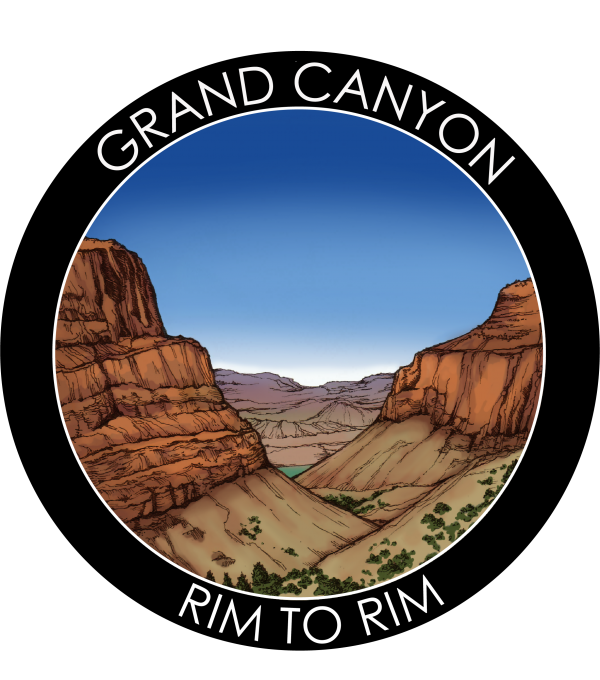 Grand Canyon Rim to Rim Stickers and Magnets