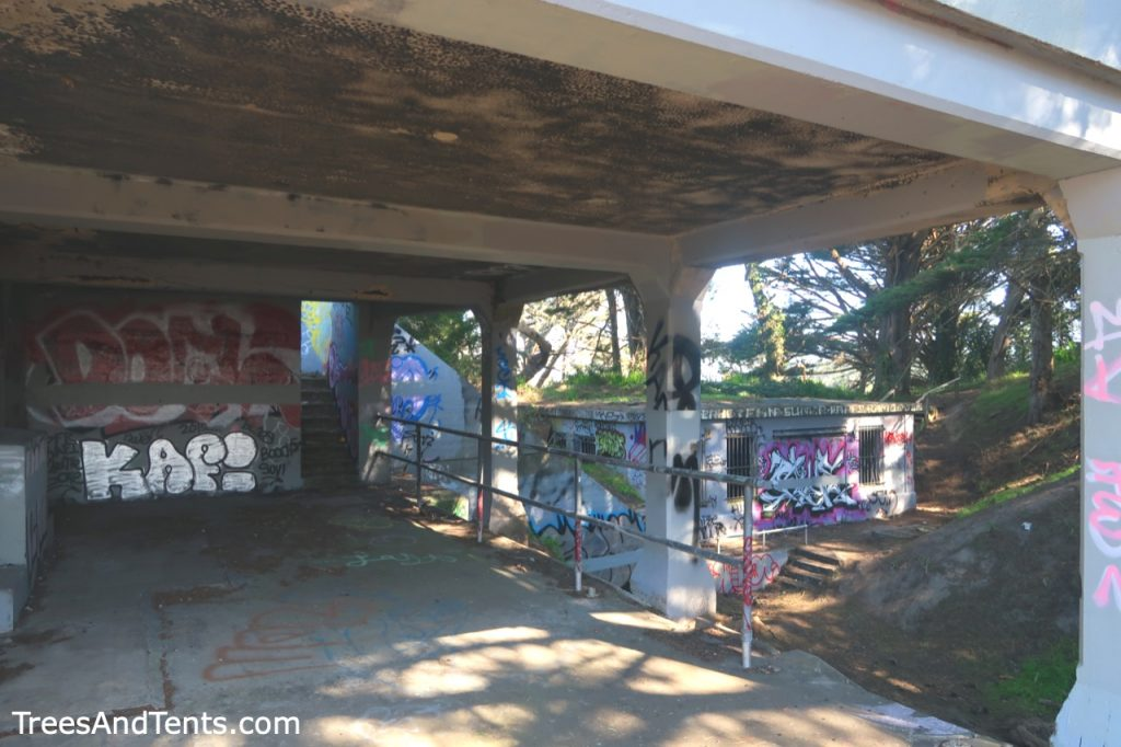 Battery Chester in San Francisco covered in graffiti.
