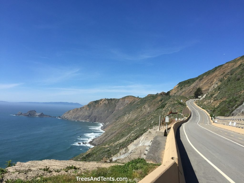 The Devils Slide Trail is a paved, multi-use trail located on highway 1 between Pacifica and Half Moon Bay. The dog-friendly trail is a great place for whale watching.
