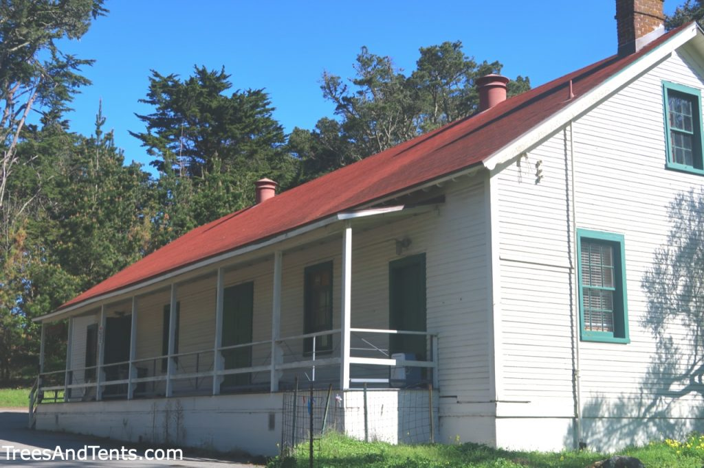 This little white building with green trim is the only building left from the historic U.S. Army base Fort Miley.