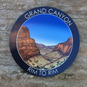 Grand Canyon Rim to Rim Sticker with a Glossy Finish