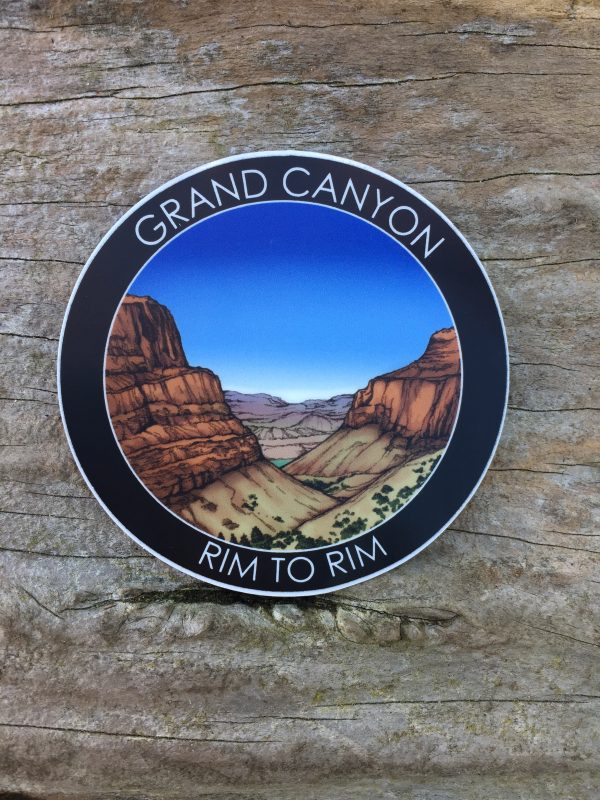 Grand Canyon Rim to Rim Trail Stickers and Magnets