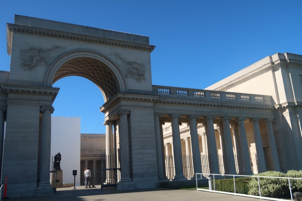 The exterior of the Legion of Honor museum in San Francisco