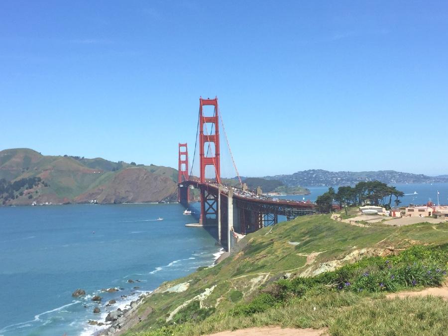 Golden Gate Bridge view from Battery Godfrey