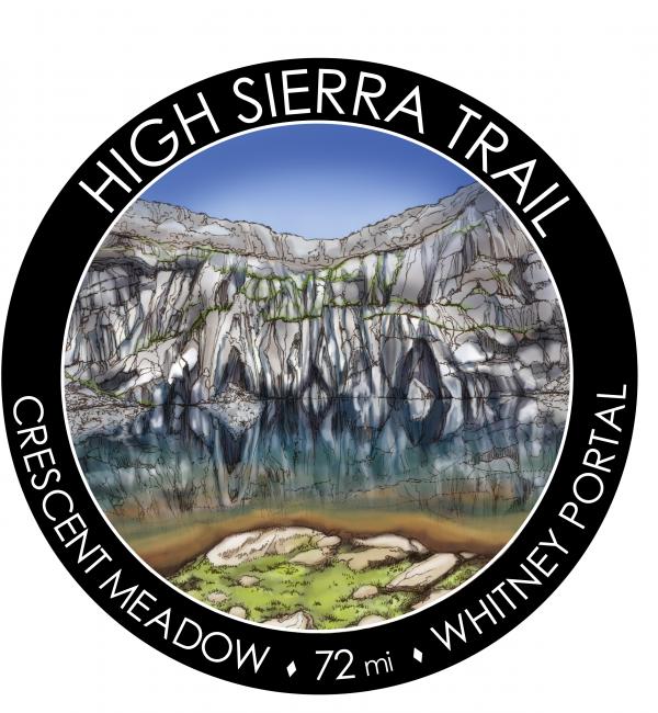 Drawing of High Sierra Trail sicker.