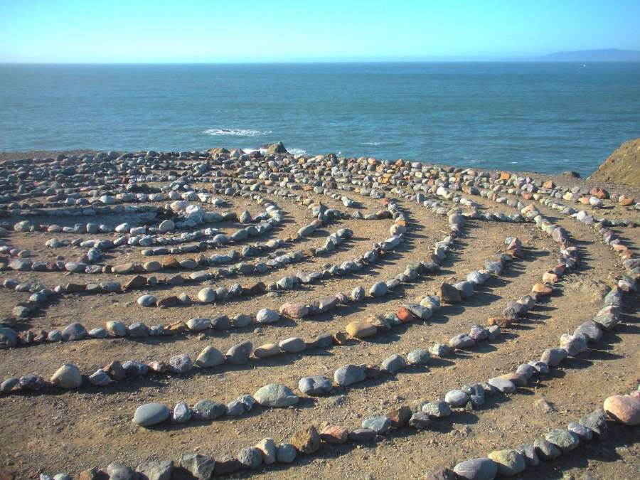 The hidden labyrinth at Lands End in San Francisco