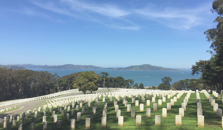 National  Cemetery Overlook on one of the Presidio hiking trails.