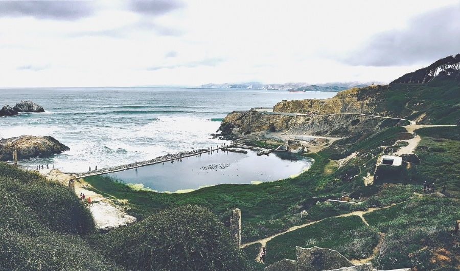 View of Sutro Baths from the San Francisco Lands End Trail