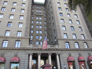 The Saint Francis Hotel in San Francisco was included in the novel The Maltese Falcon