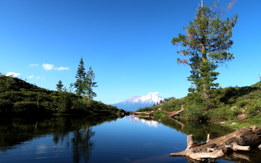 The view of Mount Shasta from Heart Lake rewards hikers for their efforts