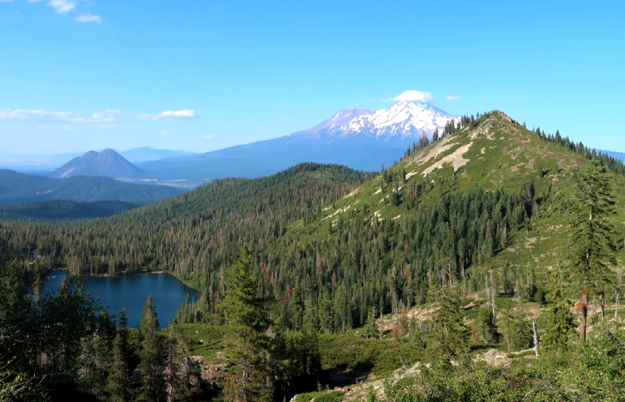 Views of Castle Lake from the Heart Lake trail.