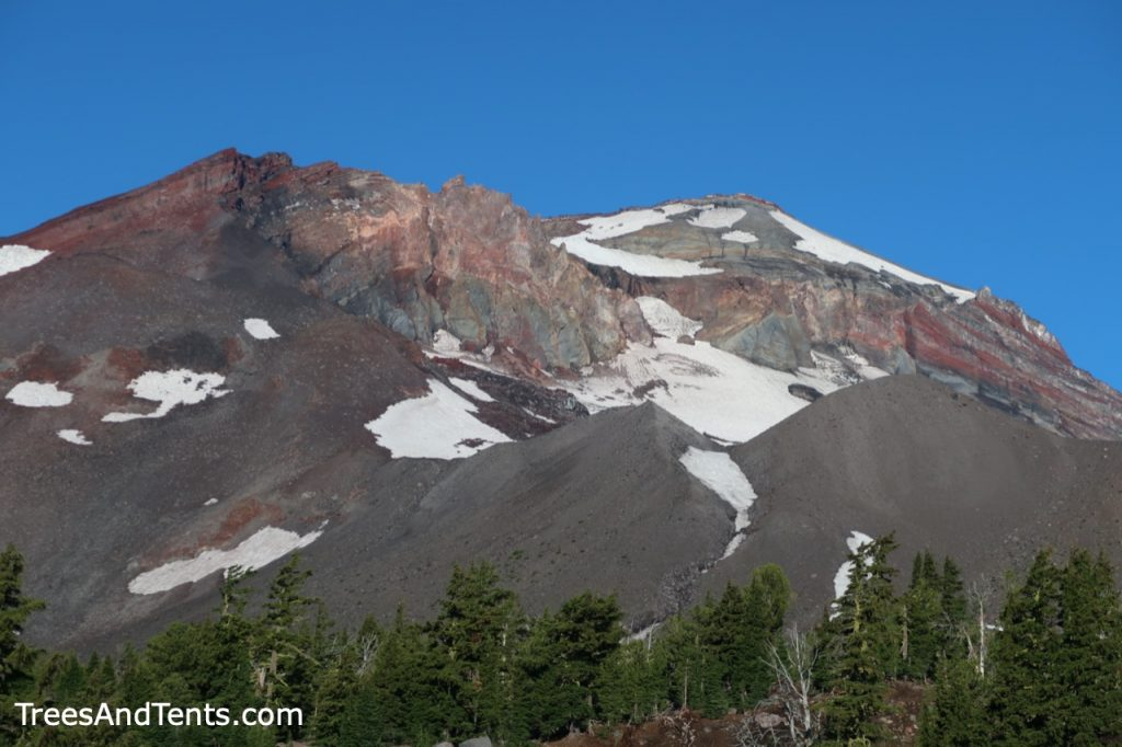 Close-up of South sister peak in the Three Sisters Wilderness