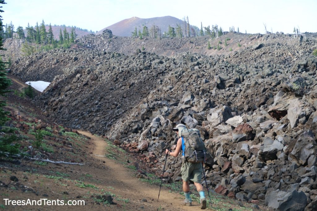 Lava fields along the PCT in Three Sisters Wilderness