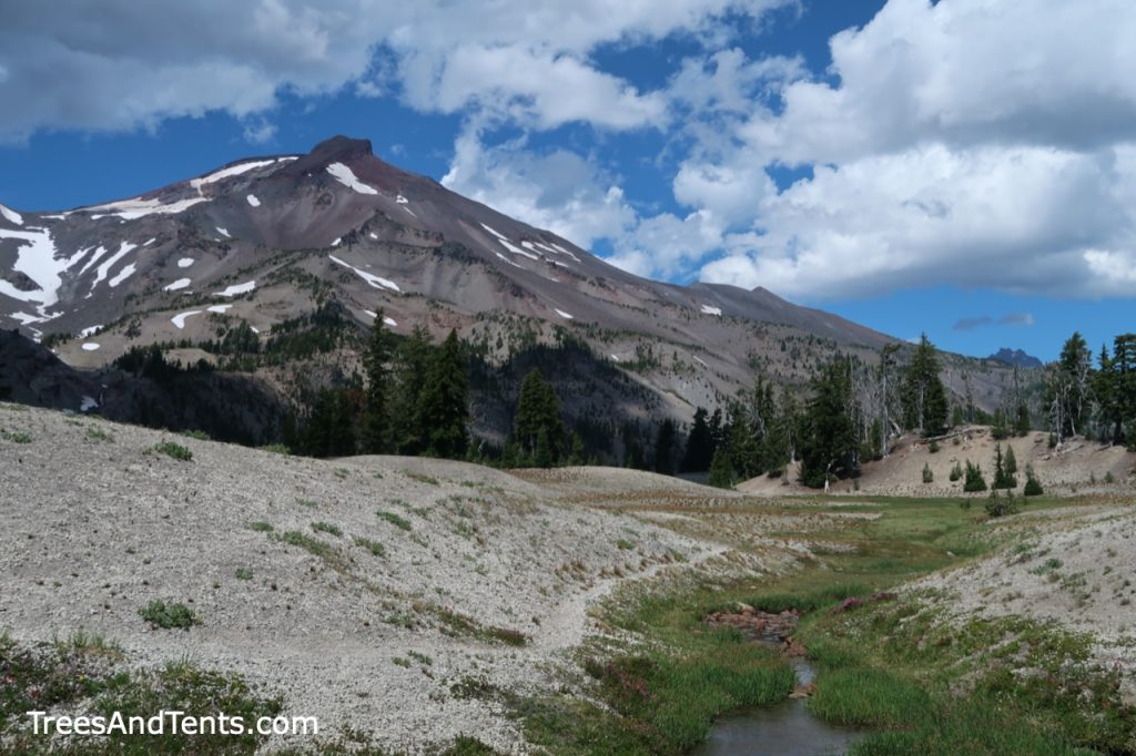 Dark clouds beginning to form over South Sister