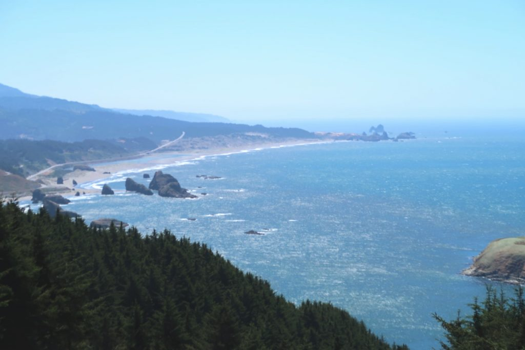 The view from Oregon's Cape Sebastian stretches more than 40-miles to the south.