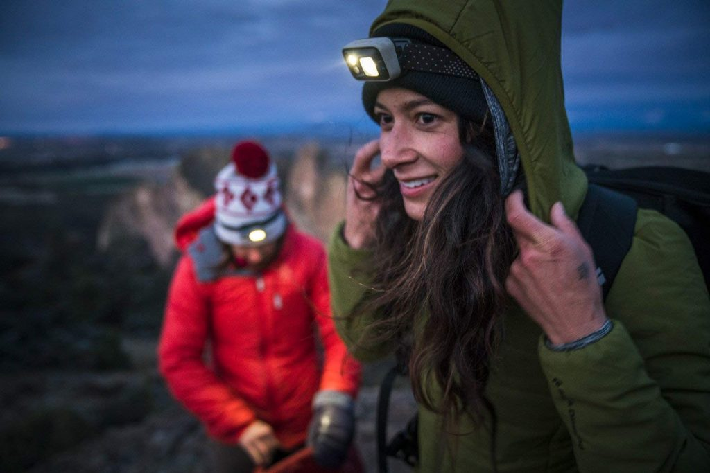 The Black Diamond Astro headlamp is storm proof and weatherproof.