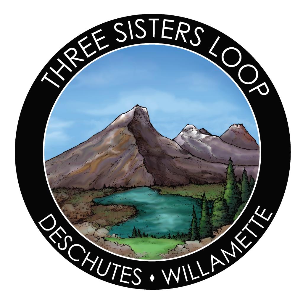 Three Sisters Wilderness Loop hiking sticker