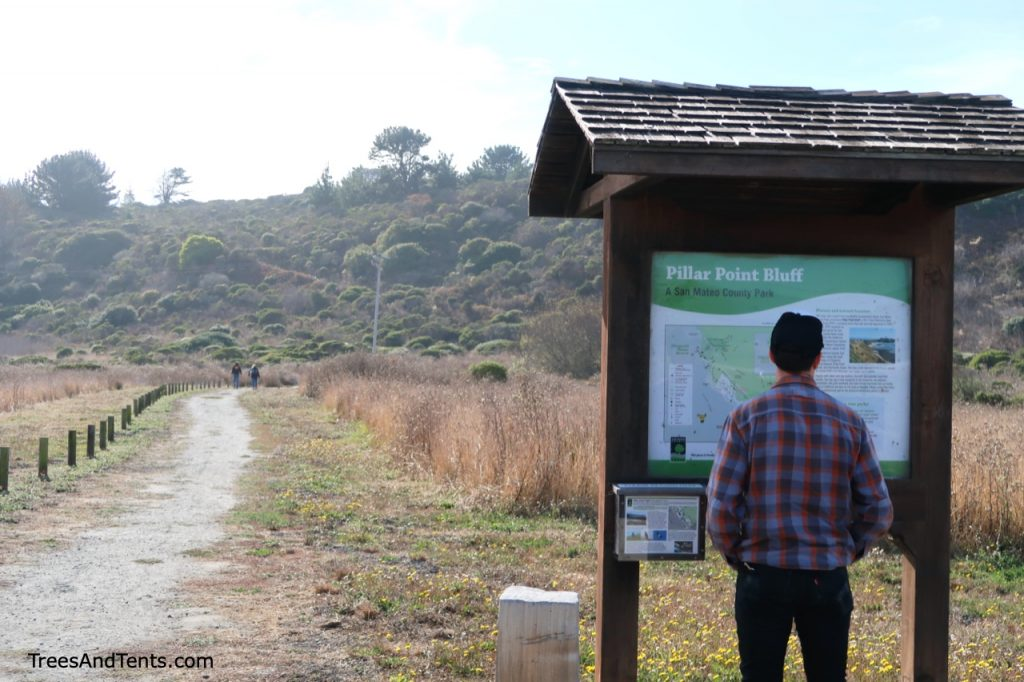 The trailhead at Pillar Point has a maps and laminated interpretive guides.
