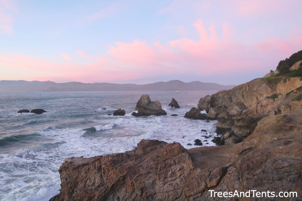 The Point Lobos viewpoint above Sutro Baths is a great place for whale watching