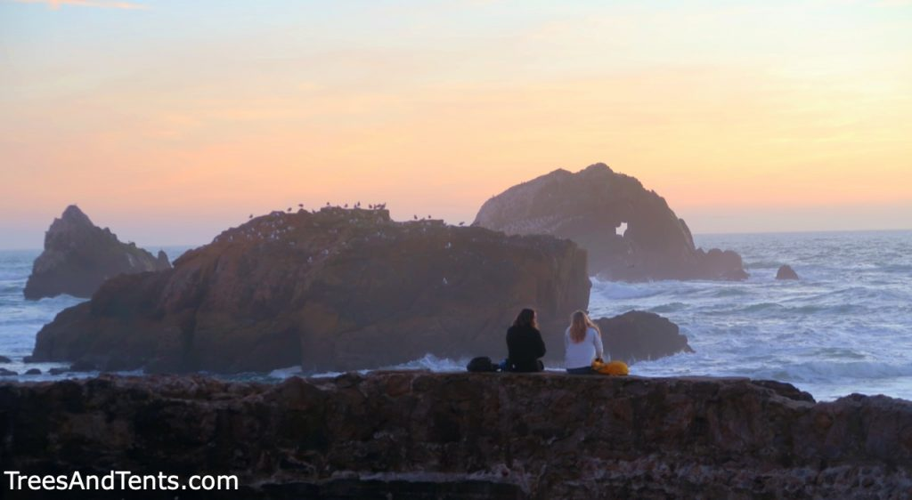 Sutro Baths is one of the best places in San Francisco to watch the sunset.