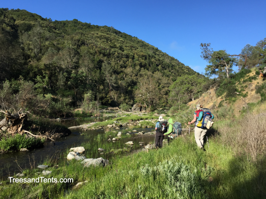 Backpackers in Henry Coe State Park