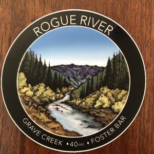 Rogue River hiking sticker 3 inches matte vinyl